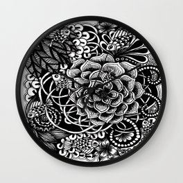 Zentangle Fishes! Fishes! Fishes! Wall Clock