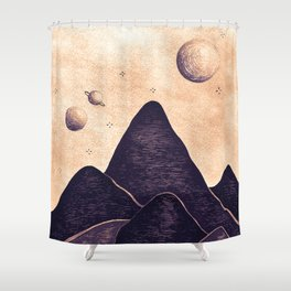 Himalayan Night Under The Stars Shower Curtain