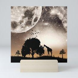 Nature silhouettes Mini Art Print