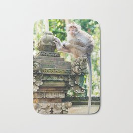 Monkey Forest | Nature Animal Photography in Bali Indonesia Bath Mat