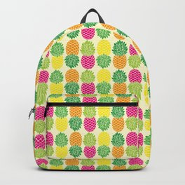 Pineapple Pop Pattern | Pop Art Pineapples | Colorful Pineapple Pattern | Pineapple Silhouettes | Backpack