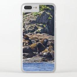 Bathing Beauties - West Coast Art Clear iPhone Case
