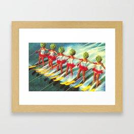 The artichoke skiers Framed Art Print