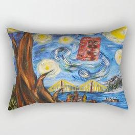Starry In San Francisco Rectangular Pillow