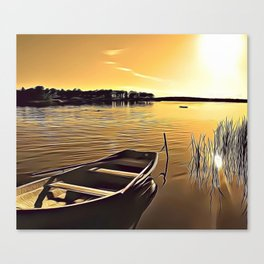 Summer Lake Airbrush Artwork Canvas Print