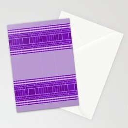 Plum Urban Geometric Stationery Cards