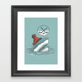 Hockey Shark Framed Art Print