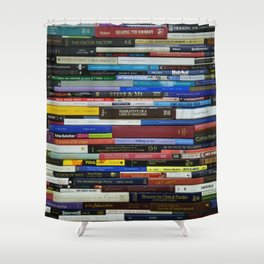 colorful book spine Shower Curtain