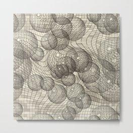 Cosmos in Sepia Metal Print