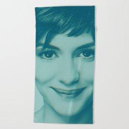 She smiles Beach Towel