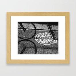 3 Circles Framed Art Print