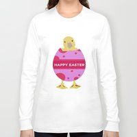 easter Long Sleeve T-shirts featuring Happy Easter  by Sammycrafts