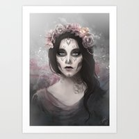 day of the dead Art Prints featuring Day of the Dead by Nicolas Jamonneau