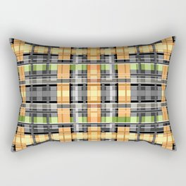 Grey-yellow  beautiful  plaid Rectangular Pillow