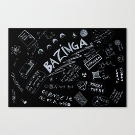Big Bang Pattern Canvas Print