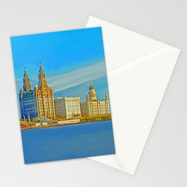 Liverpool 3 Graces (Digital Art) Stationery Cards