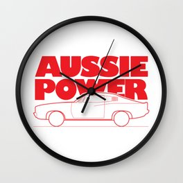 Aussie Power - Valiant Charger Wall Clock