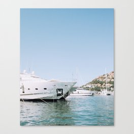 Boats in Mallorca Spain Canvas Print