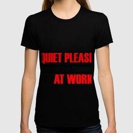 Quiet Please Convention Planner At Work T-shirt