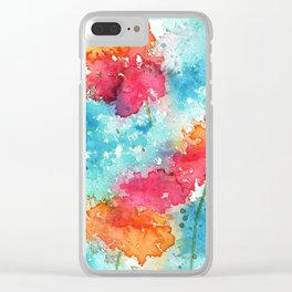 Poppies II Clear iPhone Case
