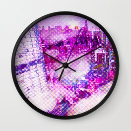 Retro Comic City Wall Clock