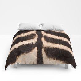 Zebra - zebra stripes -zebra skin - genuine - beautiful - #society6 #buyart Comforters