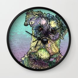 Schnauzer dog. Wall Clock