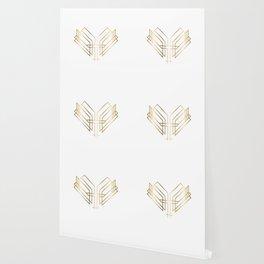 Art Deco Heart Wallpaper