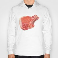 meat Hoodies featuring Meat by Adriana de Barros