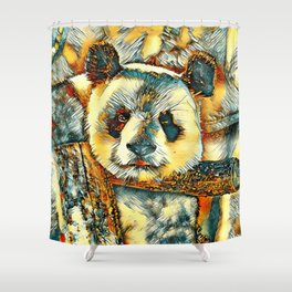 AnimalArt_Panda_20180101_by_JAMColors Shower Curtain