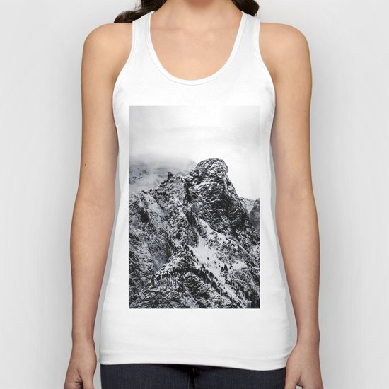 Mountain black white 5 photo Unisex Tank Top