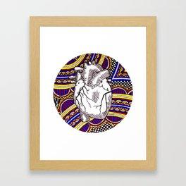 Oh The Heart Framed Art Print