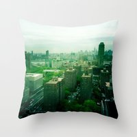 brooklyn Throw Pillows featuring Brooklyn by Claire Beaufort
