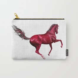 Happy Horse in Red Carry-All Pouch