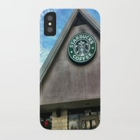 starbucks iPhone & iPod Cases featuring Starbucks by Chelsea Gibson