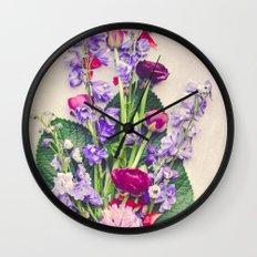 Summer Flowers Wall Clock