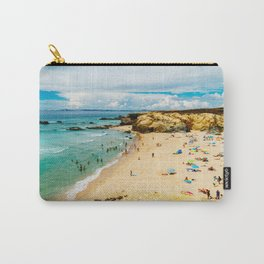 People Having Fun On Beach, Algarve Lagos Portugal, Tourists In Summer Vacation, Wall Art Decor Carry-All Pouch