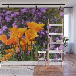 Poppies And Purple Lantana Wall Mural