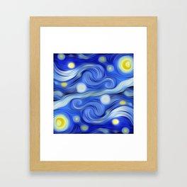 VanGoghED Stars Framed Art Print