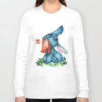 stitch Long Sleeve T-shirts featuring stitch  by cynamon
