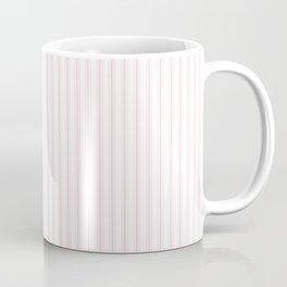 Light Soft Pastel Pink and White Mattress Ticking Coffee Mug