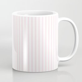 Light Soft Pastel Pink and White Mattress Ticking Coffee Mug