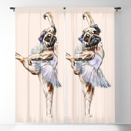 Pug Ballerina in Dog Ballet | Swan Lake  Blackout Curtain