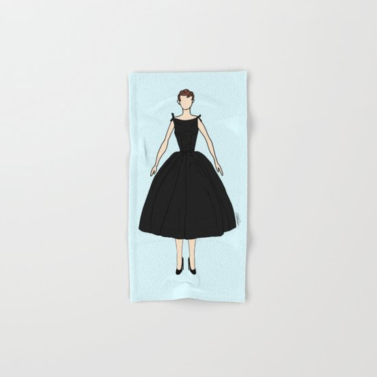 Audrey Hepburn Vintage Retro Fashion 1 Hand & Bath Towel