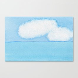 Fuzzy Wuzzy Caterpillar Clouds Canvas Print
