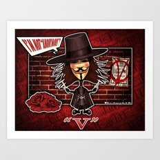 V for Vendetta Art Print