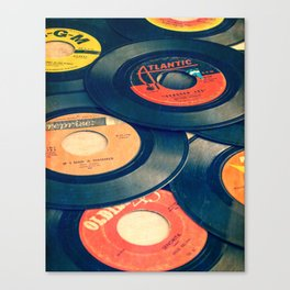 Take those old records off the shelf Canvas Print