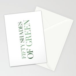 Fifty Shades Of Green Stationery Cards