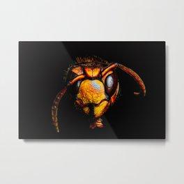 Bee Ware Metal Print