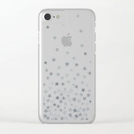 STARS SILVER Clear iPhone Case